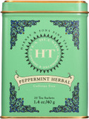 Fine Teas Peppermint Herbal Caffeine Free 20 Tea Sachets 1.4 oz (40 g), Harney & Sons