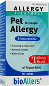 bioAllers Pet Allergy For People 60 Tabs, Natra Bio