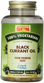 Black Currant Oil Vegetarian 60 Veggie Caps, Health From The Sun