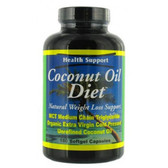 Coconut Oil Diet 180 Softgel Caps, Health Support