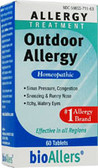 bioAllers Outdoor Allergy 60 Tabs, Natra Bio