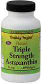 Triple Strength Astaxanthin 12 mg 150 sGels, Healthy Origins