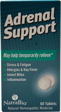 Natra Bio Adrenal Support 60 Tabs, Stress, Allergy