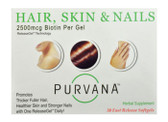 Purvana Hair Skin & Nails 30 Fast Release sGels, Heaven Sent Naturals