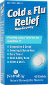Cold and Flu Relief 60 Tabs, Natra Bio