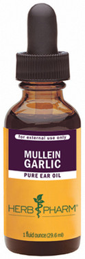 Mullein Garlic Pure Ear Oil 1 oz Herb Pharm, Ear Aches