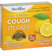 Natural Care Cough Drops Honey Lemon 18 Drops, Herbion