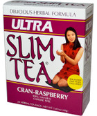 Ultra Slim Tea Cran-Raspberry Caffeine Free 24 Herbal Tea Bags 1.69 oz (48 g), Hobe Labs