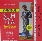 Slim Tea Original 60 Tea Bags 4.20 oz (120 g), Hobe Labs