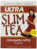 Ultra Slim Tea Cinnamon Apple Caffeine Free 24 Herbal Tea Bags 1.69 oz (48 g), Hobe Labs