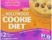 The Hollywood Cookie Diet Chocolate Chip 12 Meal Replacement Cookies, Hollywood Diet