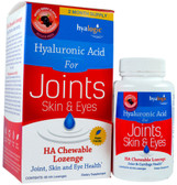 Hyaluronic Acid For Joints HA Chewable Lozenge Mixed Berry Flavor Sugar Free 60 HA Lozenges, Hyalogic