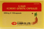 Korean Ginseng Caps 500 mg 100 Caps, Ilhwa