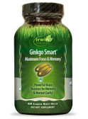 Ginkgo Smart Maximum Focus & Memory 60 Liquid Soft-Gels, Irwin Naturals