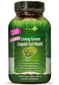 Women's Living Green Liquid-Gel Multi 120 Liquid Soft-Gels, Irwin Naturals