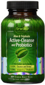 Aloe & Triphala Active-Cleanse and Probiotics 60 Liquid Soft-Gels, Irwin Naturals
