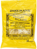 Throat & Chest Honey and Lemon Flavored 30 Lozenges, Jakemans