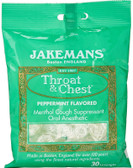 Throat & Chest Peppermint Flavored 30 Lozenges, Jakemans