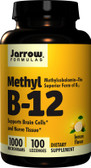 Methyl B-12 Lemon Flavor 1000 mcg 100 Lozenges, Jarrow