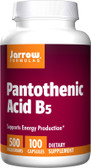 Pantothenic Acid B5 500 mg 100 Caps, Jarrow