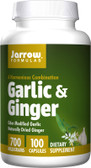 Garlic & Ginger 700 mg 100 Caps, Jarrow