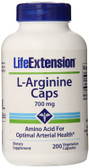 L-Arginine Caps 700 mg 200 Veggie Caps, Life Extension