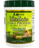 Life's Basics Plant Protein Mix with Greens 19.84 oz (1.24 lb /562.4 g), Life Time