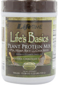 Life's Basics Plant Protein Mix Natural Chocolate Flavor 19.58 oz (555 g), Life Time