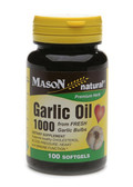 Garlic Oil 1000 100 sGels, Mason Vitamins