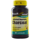 Activated Vegetable Charcoal 60 Caps, Mason Vitamins