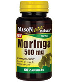 Moringa 500 mg 60 Caps, Mason Vitamins