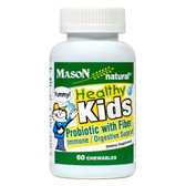 Healthy Kids Probiotic With Fiber Chewable 60 Chewables, Mason Vitamins