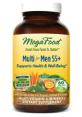 Men Over 55 Whole Food Multivitamin & Mineral Iron Free 60 Tabs, MegaFood