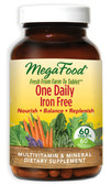 One Daily Iron Free 60 Tabs, MegaFood