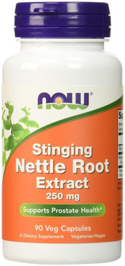 Nettle Root Extract Stinging 250 mg 90 Caps, Now Foods