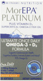 MorEPA Platinum Ultimate Once Daily Omega-3 + D3 Formula Orange Flavor 30 sGels, Minami Nutrition