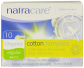 Organic Cotton Tampons Regular 10 Tampons, Natracare