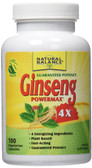 Ginseng Powermax 4X 100 Caps, Natural Balance