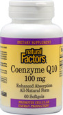 Coenzyme Q10 Enhanced Absorption 100 mg 60 sGels, Natural Factors