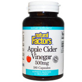 Apple Cider Vinegar 500 mg 180 Caps, Natural Factors