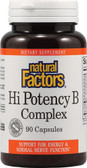 Hi Potency B Complex 90 Caps, Natural Factors