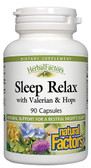Sleep Relax with Valerian & Hops 90 Caps, Natural Factors