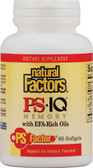 PS- IQ Memory with EFA-Rich Oils 60 sGels, Natural Factors