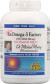 Ultra Strength RxOmega-3 Factors with Vitamin D3 1000 IU 150 sGels, Natural Factors
