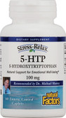 Stress-Relax 5-HTP 100 mg 60 Enteric Coated Caplets, Natural Factors
