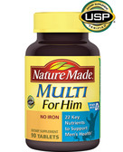 Multi for Him No Iron 90Tabs, Nature Made