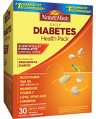 Daily Diabetes Health Pack 30 Packets 6 Supplements Per Packet, Nature Made