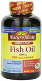 Fish Oil Omega-3 1000 mg 150 Liquid sGels, Nature Made