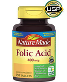 Folic Acid 400 mcg 250 Tabs, Nature Made