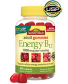 Adult Gummies Energy B12 Cherry & Wild Berries 80 Gummies, Nature Made